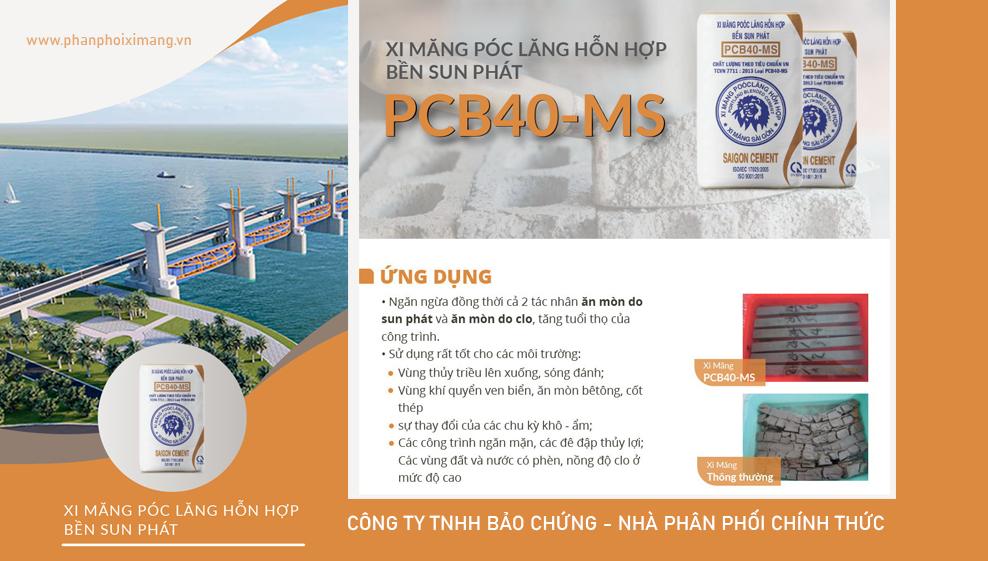 Xi măng PCB40-MS